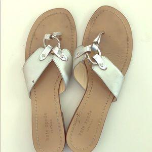 Kate Spade silver sandals 7 1/2B